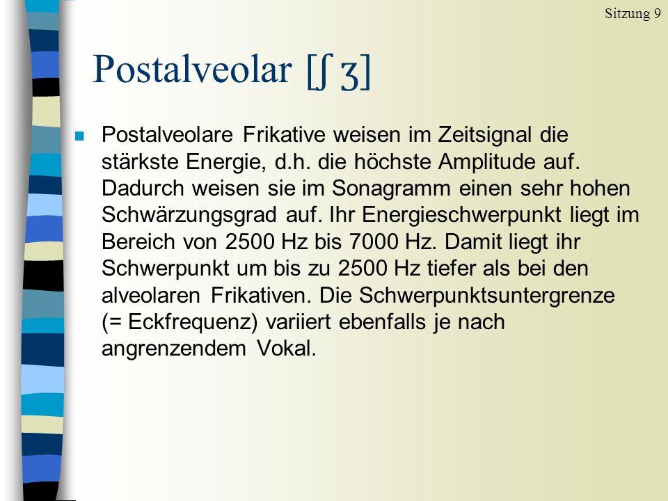 Sitzung 9 Postalveolar [ʃ ʒ]